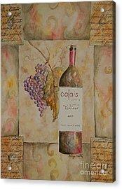 Calais Vineyard Acrylic Print by Tamyra Crossley