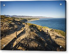 California Coastline From Point Dume Acrylic Print by Adam Romanowicz