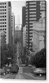 California Street San Francisco Streetcar Acrylic Print by Silvio Ligutti