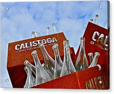 Calistoga Bubbles Acrylic Print by Michael Blesius