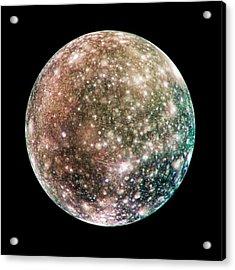 Callisto Acrylic Print by Nasa/jpl/dlr