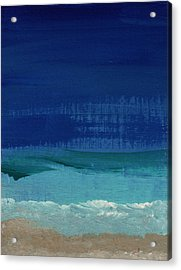 Calm Waters- Abstract Landscape Painting Acrylic Print by Linda Woods