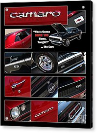 Camaro-drive - Poster Acrylic Print by Gary Gingrich Galleries