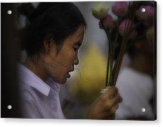 Cambodian Prayers Acrylic Print by David Longstreath
