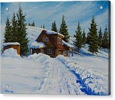 Cambridge Cabin Acrylic Print by C Steele