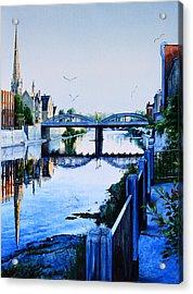 Cambridge Summer Morning Acrylic Print by Hanne Lore Koehler