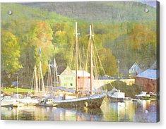 Camden Harbor Maine Acrylic Print by Carol Leigh