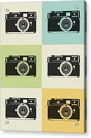 Camera Grid Poster Acrylic Print by Naxart Studio