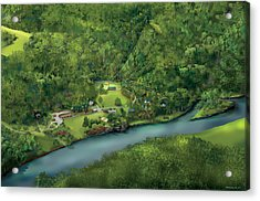 Camp Cheerio Adventure Camp Acrylic Print by Rhett and Sherry  Erb