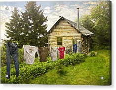 Camp Leconte Acrylic Print by Debra and Dave Vanderlaan