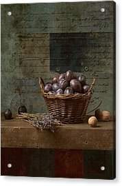 Campagnard - Rustic Still Life - S01otxt1ds1 Acrylic Print by Variance Collections