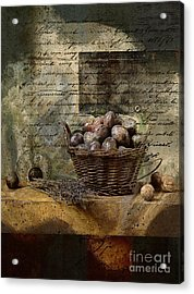 Campagnard - Rustic Still Life - S02sp Acrylic Print by Variance Collections