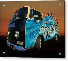 Camper Van Paint Job Acrylic Print by Pete Hemington