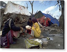 Acrylic Print featuring the photograph Camping In Iraq by Travel Pics