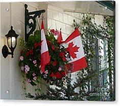 Canadian Patriotism Acrylic Print by Avis  Noelle