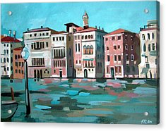 Canal Grande Acrylic Print by Filip Mihail