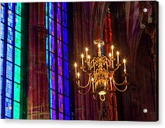 Candelabra, St Stephens Cathedral Acrylic Print by Peter Adams