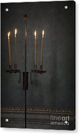 Candles In The Dark Acrylic Print by Margie Hurwich