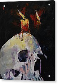 Candles Acrylic Print by Michael Creese