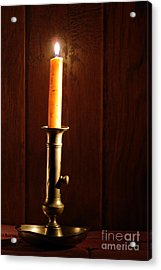 Candlestick Acrylic Print by Olivier Le Queinec