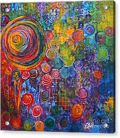 Candyland Acrylic Print by Claire Bull