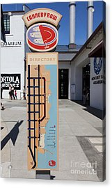 Cannery Row Directory At The Monterey Bay Aquarium California 5d25018 Acrylic Print by Wingsdomain Art and Photography