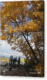 Cannon On Top Of Lookout Mountain Acrylic Print by Bruce Roberts