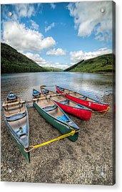 Canoe Break Acrylic Print by Adrian Evans