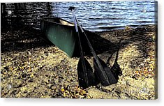 Canoe Acrylic Print by Cheryl Young