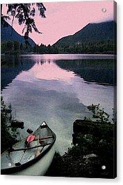 Canoe Day Acrylic Print by Kathy Bassett