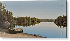 Canoe The Massassauga Acrylic Print by Kenneth M  Kirsch