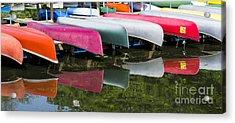 Canoes Acrylic Print by Steven Ralser