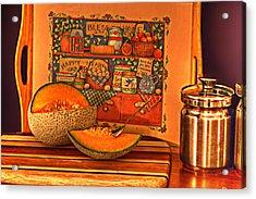 Canteloupe Acrylic Print by Regina  Williams