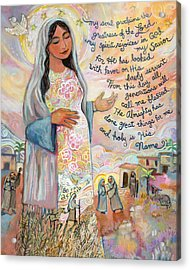 Canticle Of Mary Acrylic Print by Jen Norton