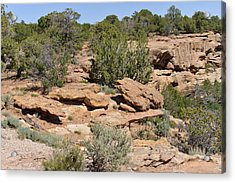 Canyon De Chelly - A Blend Of Cultures Acrylic Print by Christine Till