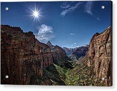 Canyon Overlook Acrylic Print by Jeff Burton