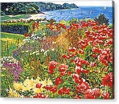 Cape Cod Ocean Garden Acrylic Print by David Lloyd Glover