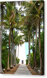 Cape Florida Walkway Acrylic Print by Carey Chen