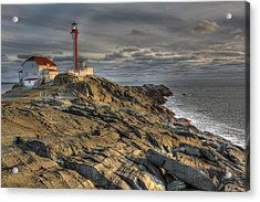 Cape Forchu Lightstation Nova Scotia Acrylic Print by Scott Leslie