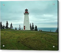 Cape George Lighthouse Acrylic Print by Janet Ashworth