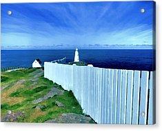 Cape Spear Lighthouse Newfoundland Acrylic Print by Patricia Januszkiewicz