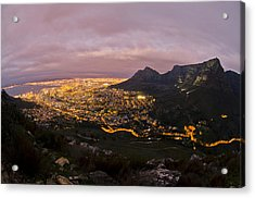 Cape Town Nights Acrylic Print by Aaron S Bedell