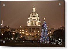 Capitol Christmas Acrylic Print by Terry Rowe