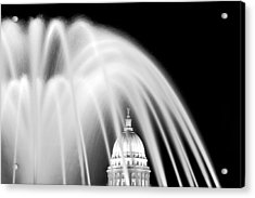 Capitol Fountain Acrylic Print by Todd Klassy