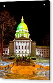 Capitol Madison Packers Colors Acrylic Print by Steven Ralser