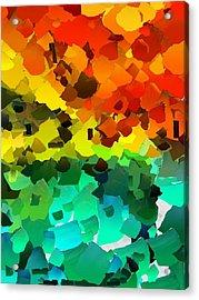 Capixart Abstract 35 Acrylic Print by Chris Axford