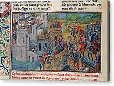 Capture Of A Bastion At Troyes Acrylic Print by British Library