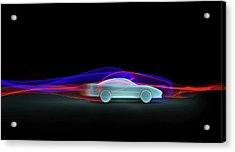 Car Aerodynamics Modelling Acrylic Print by Wladimir Bulgar