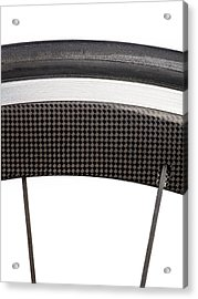 Carbon Fibre Bicycle Wheel Acrylic Print by Science Photo Library