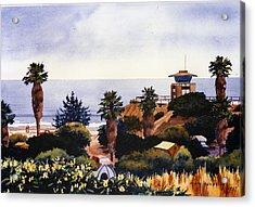 Cardiff State Beach Acrylic Print by Mary Helmreich
